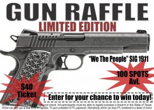 """We The People"" SIG 1911 Gun Raffle"