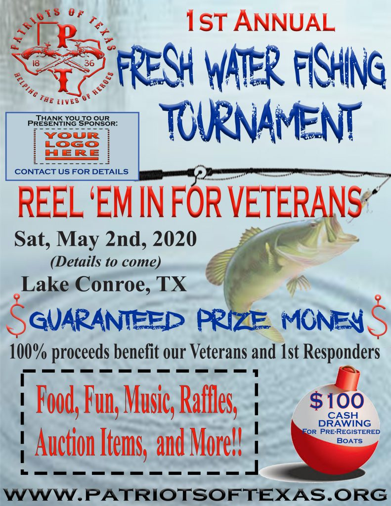 Patriots of Texas 1st Annual Fresh Water Fishing Tournament 2020